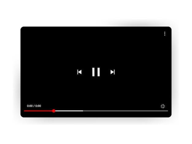 Videoplayer. vektorillustration lokalisiert auf weißem hintergrund mit schatten.