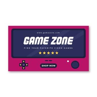 Videospiel-banner-blog-konzept