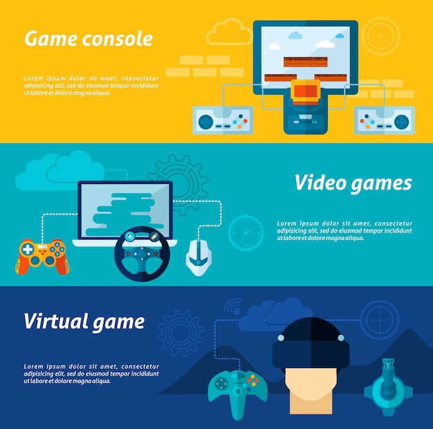 Videospiel-banner-set