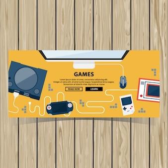 Videospiel-broschüre vorlage