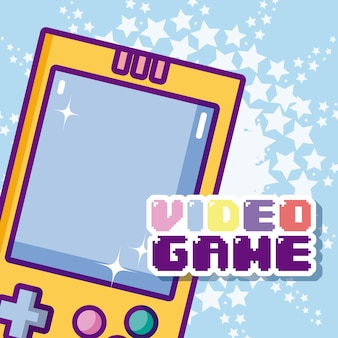 Videospiel cartoons konzept
