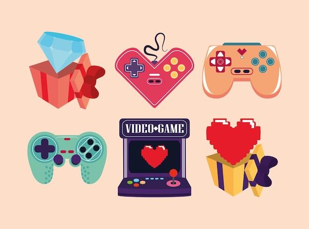 Videospiel-icon-set
