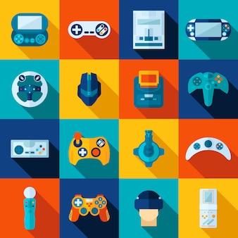 Videospiel-ikonen eingestellt