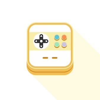 Videospiel-ikonenthemavektor-kunstillustration