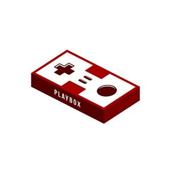 Videospiel joystick konsole thema logo vorlage