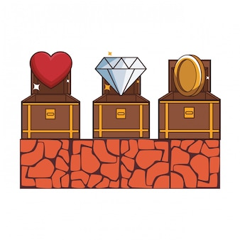 Videospiel-landschaftskarikatur