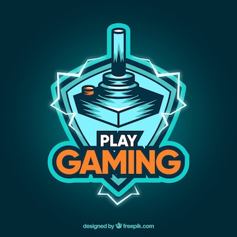 Videospiel-logo-vorlage mit moderner stil