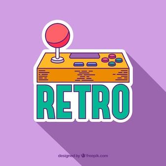 Videospiel-logo-vorlage mit retro-stil