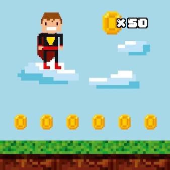 Videospiel-pixel-design