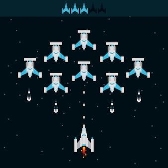 Videospiel raumschiff alien