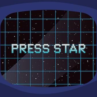 Videospiel retro illustration