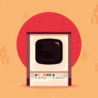 Videospiel retro illustration