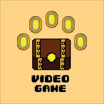 Videospiel-schatztruhe-münzgeld