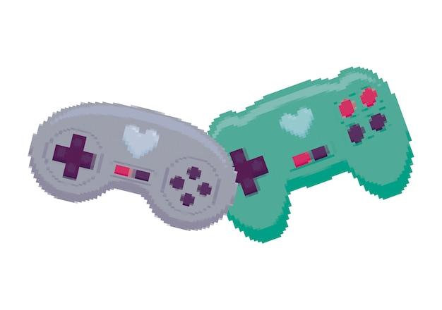 Videospiel steuert pixelate-symbol
