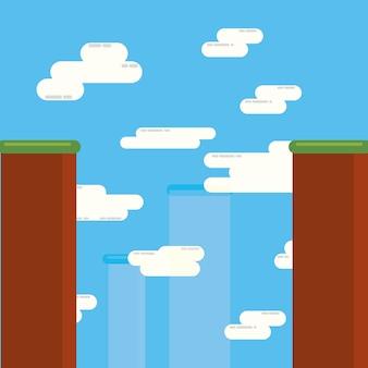 Videospieldesign der landschaft