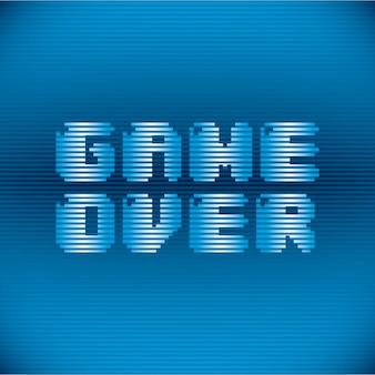 Videospieldesign über blauer hintergrundvektorillustration