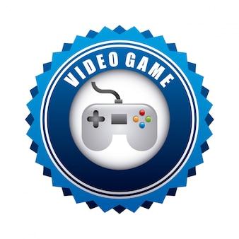 Videospieldesign über weißer hintergrundvektorillustration