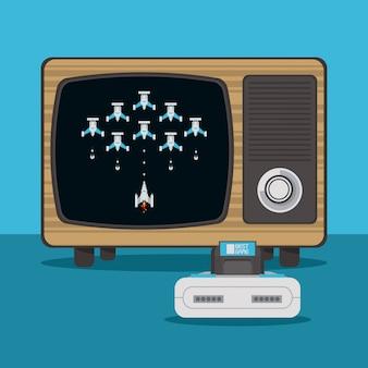 Videospielkonsole und fernseher