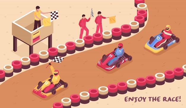 Viel spaß beim horizontalen kartfahren