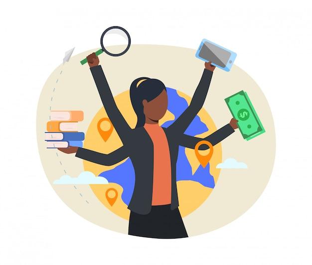 Vielbeschäftigte professionelle webseite