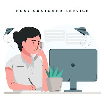 Vielbeschäftigter kundenservice