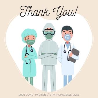 Vielen dank, ärzte und krankenschwestern