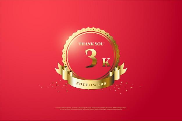 Vielen dank an 3k follower mit einer goldenen nummer