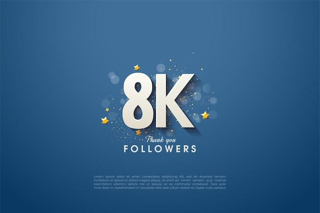 Vielen dank an 8k follower mit dem luxus des designs