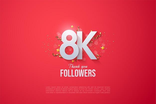 Vielen dank an 8k follower mit überlappenden figuren