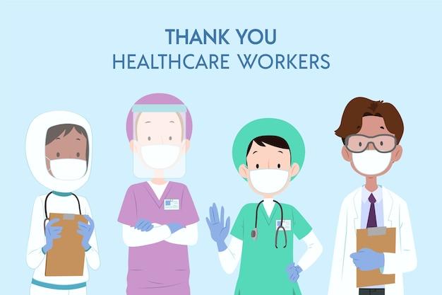Vielen dank an die mitarbeiter des gesundheitswesens