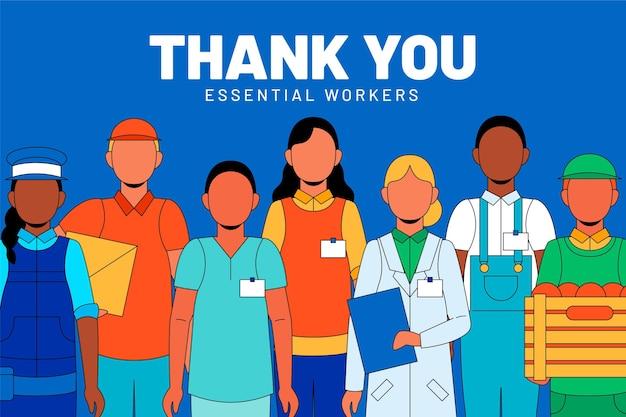 Vielen dank an wichtige mitarbeiter