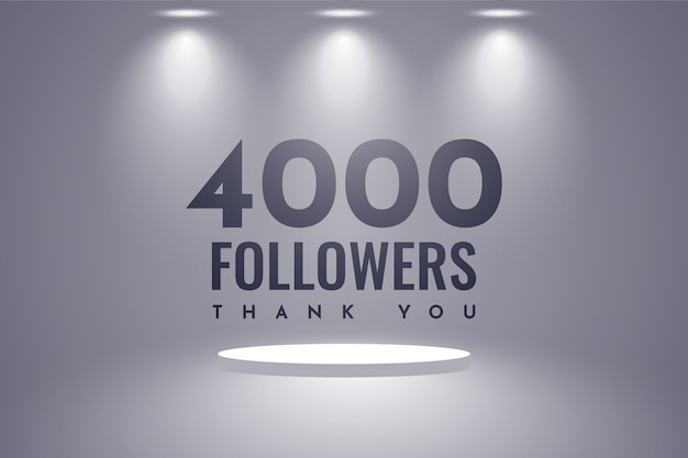 Vielen dank, dass sie 4000 follower design