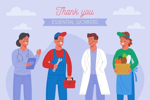 Vielen dank, dass sie wichtige mitarbeiter illustriert haben