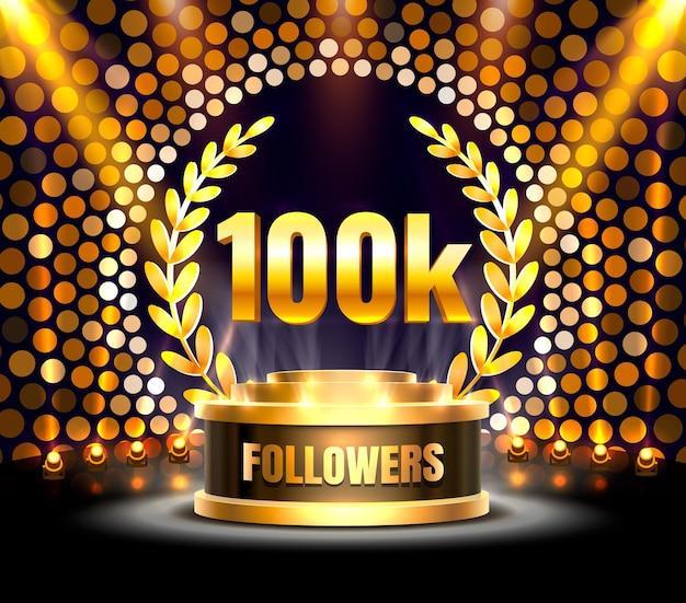 Vielen dank follower völker, 100.000 online-social-group