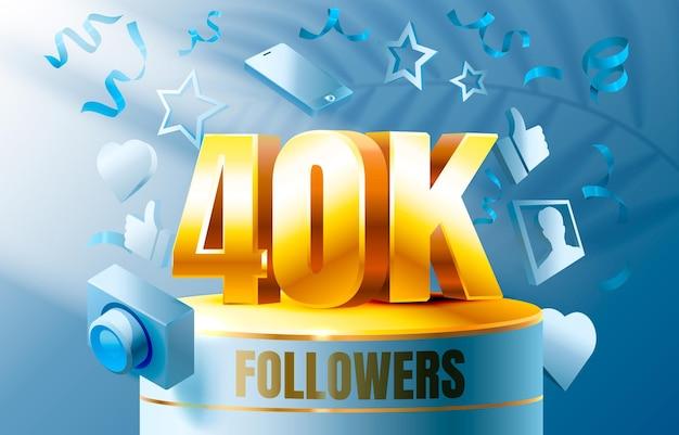 Vielen dank follower völker k online soziale gruppe glücklich banner feiern vektor