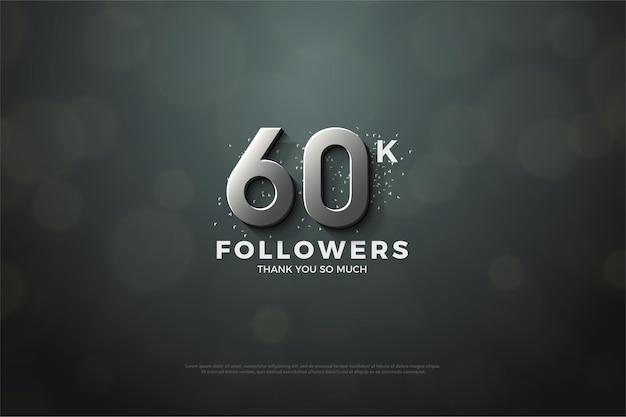 Vielen dank für die 60.000 follower mit silberner nummer