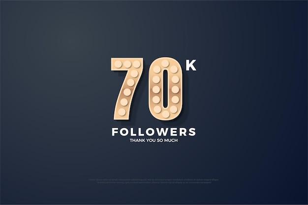 Vielen dank für die 70.000 follower mit den strukturierten zahlen, die aufleuchten