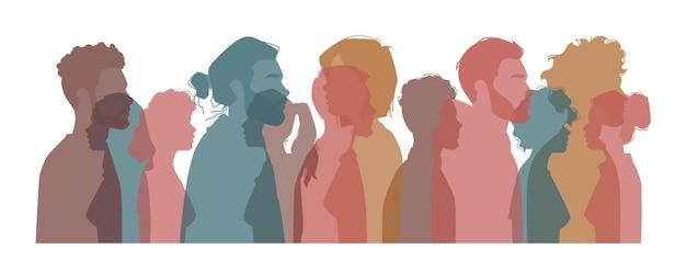 Vielfältige menschen aus verschiedenen ländern, nationalitäten und kulturen