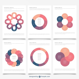 Vielfalt der broschüre infografik
