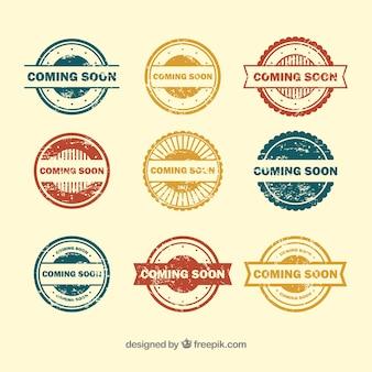 Vielfalt der kommenden briefmarken