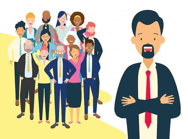 Vielfalt geschäftsmann und frau