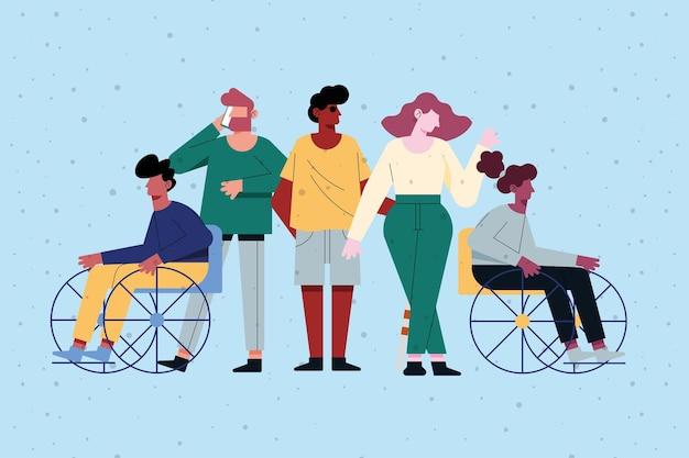 Vielfalt und behinderte menschen