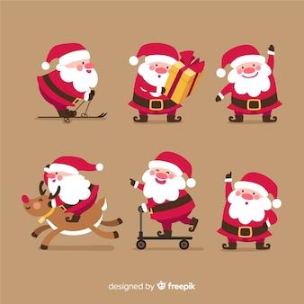 Vielzahl der weihnachtsmann-lageansammlung