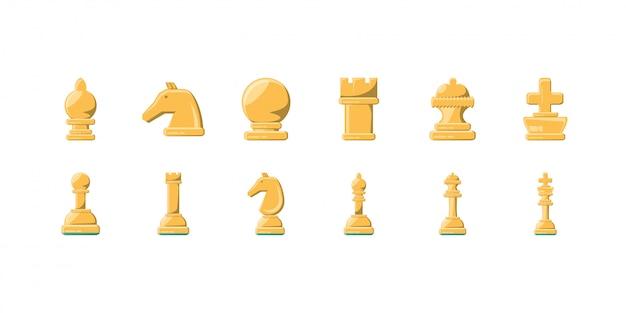 Vielzahl schach-icon-set pack