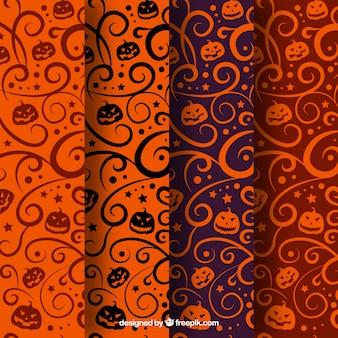 Vielzahl von abstrakten mustern halloween