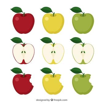 Vielzahl von äpfeln