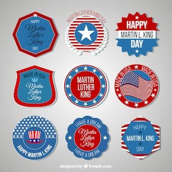 Vielzahl von amerikanischen abzeichen