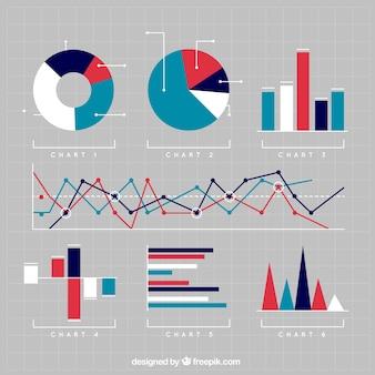 Vielzahl von charts