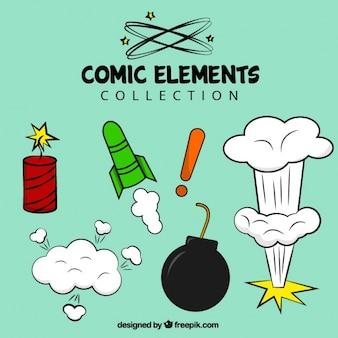 Vielzahl von comic-elementen