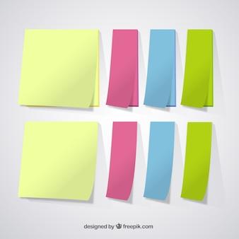 Vielzahl von farbigen notizen